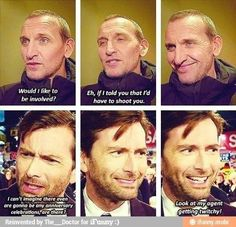 Christopher Eccleston and David Tennant when asked if they would be involved with the 50th Anniversary special....