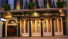 The Court of Two Sisters. Go for the Jazz Brunch.   3 Haunted Restaurants in New Orleans - Food Dat