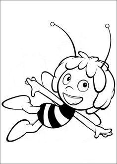 Die Biene Maja Ausmalbilder. Malvorlagen Zeichnung druckbare nº 1