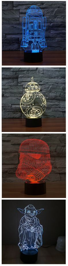 Do you prefer high-tech or retro? How do you like these novelty LED night lights? We're sure you love them! Click on the pic for more.