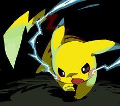 Pokemon fan art - Pikachu Thundershock