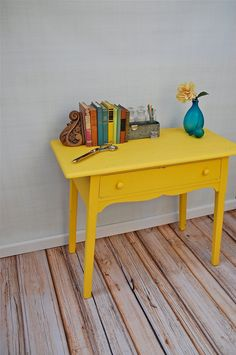 Sunny Painted Desk from sugarSCOUT on Etsy.