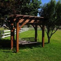 Doxey Arbor Swing Lawn Swing, Arbor Swing, Amazing Gardens, Beautiful Gardens, House Plant Care, House Plants, Arbors Trellis, Garden Planner, Garden Arbor