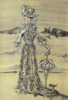 Irene Sharaff - Costumes de Films - Esquisses et Croquis - Le Chant du Missouri - 1944 - Mary Astor