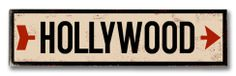 Hollywood arrow Wood Sign at AllPosters.com