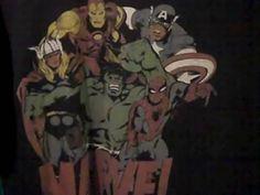 MARVEL Comics Early 1990's  Size L  Shirt Captain America  Spiderman The Hulk #FruitoftheLoom #ShortSleeve