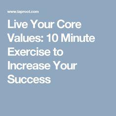 Live Your Core Value