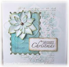Stamping Mariëtte: De poinsettia stans van Studio Light Poinsettia Cards, Art Journals, Christmas Cards, November, Merry, Joy, Create, Magenta, Decor