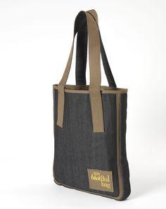 SAC TOTE DENIM KAKI / Nomade Collection / MY BIOTIFUL BAG