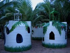 playscapes: Playhouses from Recycled Watertanks, Katell Gélébart, India, 2009