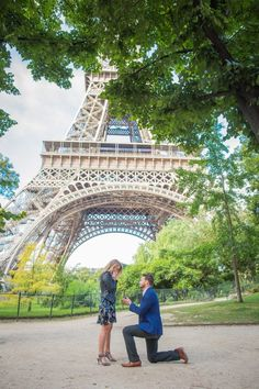 "He asked her to marry him in front of the Eiffel Tower, and she said ""Oui!"""