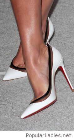 White pumps with details