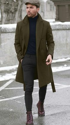 165 essential winter menswear outfits guaranteed to turn heads – page 1 Winter Outfits Men, Stylish Mens Outfits, Casual Outfits, Winter Coats For Men, Winter Wear For Men, Casual Wear For Men, Herren Outfit, Mode Masculine, Mens Fashion Suits