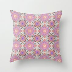 Faded Moroccan Throw Pillow by k_c_s - $20.00 -- Free worldwide shipping today!