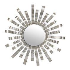 Silver Gianna Sunburst Mirror | Kirklands