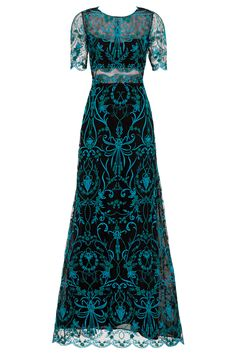 Rent Teal Elizabeth Gown by Marchesa Notte for $175 only at Rent the Runway.