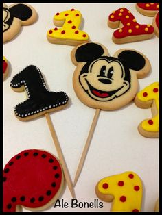 Pinches de Mickey para las tortas