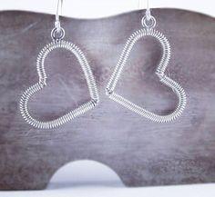 #hearts #silver #handmade jewelry #earrings #picart Handmade Jewelry, Hearts, Instagram Posts, Earrings, Silver, Stuff To Buy, Handmade Jewellery, Ear Rings, Stud Earrings