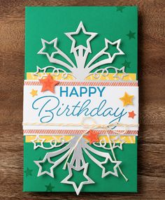 Create over the top, show stopping gift envelopes and packaging with the Birthday Blast bundle. #stampinup #OccasionsMini2017