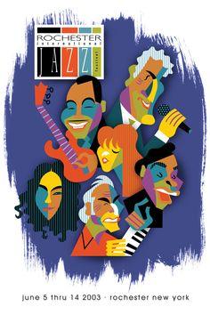 Rochester International Jazz Festival 2003 poster