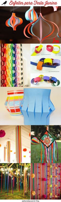 Veja como fazer 5 enfeites diferentes e criativos para decorar sua festa junina/ são joão.