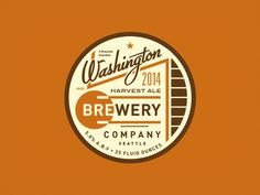 Dribbble - Washington Brewery Badge by Steve Wolf