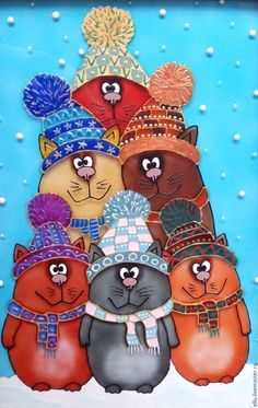 40 Glass Painting Ideas For Beginners - Cool Glass Art Designs Animal Original, Skin Paint, Room Wall Painting, Cake Painting, Frida Art, Beginner Painting, Cat Drawing, Christmas Cats, Christmas Pictures