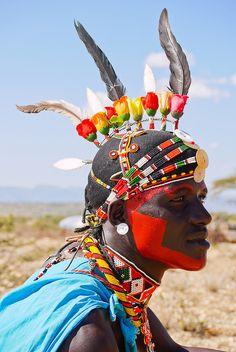 "Celebrating Africa on ""YOUR LIFE on 99FM"": Afrika - Kenya - Samburu Tribesman by Rita Willaert, via Flickr"