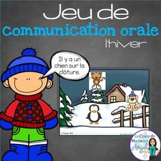 This Winter themed Barrier Game in French is a wonderful addition to your Oral Communication Activities and makes a great literacy center. This package contains 5 backgrounds and 35 different playing pieces to allow you to create a variety of Barrier Games.