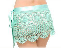 Crochet beach fringed skirt PATTERN  PDF crochet by katrinshine