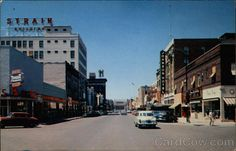 Central Avenue, Great Falls Montana  July 1957  Looking west from just above 5th Street on Central Avenue  http://www.cardcow.com/221963/central-avenue-great-falls-montana/#