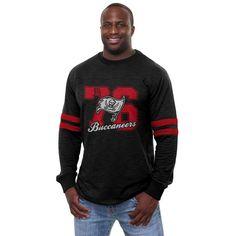 Pro Line Tampa Bay Buccaneers Historic Logo Heritage Football Jersey Long Sleeve T-Shirt - Black