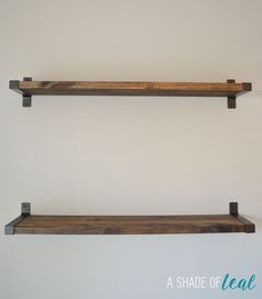 Rustic DIY Bookshelf with IKEA Ekby Brackets | A Shade Of Teal