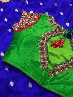 Best Blouse Designs, Simple Blouse Designs, Silk Saree Blouse Designs, Maggam Work Designs, Maggam Works, Designer Blouse Patterns, Indian Blouse, Beautiful Blouses, Work Blouse