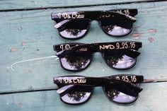 65dd922ba41 Set of 25 Personalized Glitter Sunglasses for I Do Crew Custom Party Favors