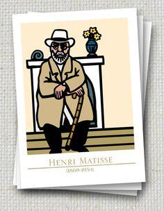 3er Set Henri Matisse Postkarten von Icke von jenapaul auf Etsy