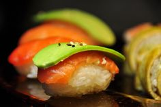 f-word: fresh salmon & avocado nigiri photo by Atelier...