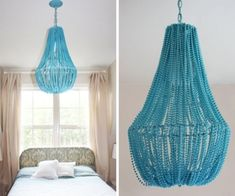 15 Crafts to Make with Mardi Gras Beads – thegoodstuff – decorationroomgirl Chandelier Lamp Shades, Beaded Chandelier, Chandelier Ideas, Crystal Chandeliers, Bead Crafts, Arts And Crafts, Crafts To Make, Diy Crafts, Creative Crafts
