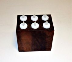 Rectangular Candle Block Holds 6 Tea Lights by PeterLFurniture