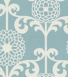 LOVE this light blue home decor fabric print!