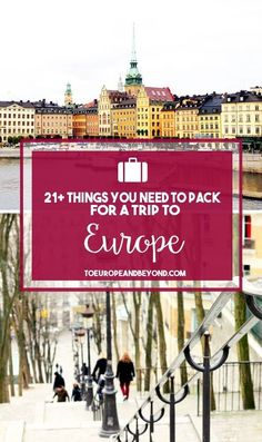 Travel packing tips europe bags ideas for 2019 Backpacking Europe, Packing For Europe, Packing List For Travel, Europe Travel Tips, Travel Abroad, Travel Advice, Places To Travel, Travel Destinations, Travel Hacks