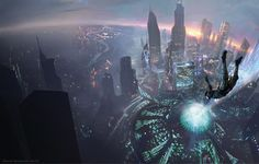 """""""End of All Things"""" by #DavidDemaret.  #sciencefiction #scifi #cityscape"""