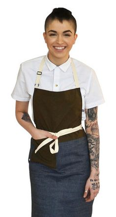 Mother's day made easy-Color block apron on from Tilit Chef Goods