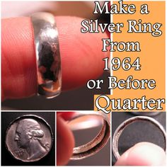 The Homestead Survival   Make a Silver Ring From 1964 or Before Quarter   Jewelry DIY http://thehomesteadsurvival.com