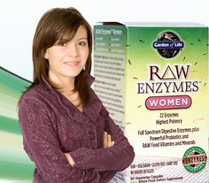 I don't have to worry about hard-to-digest foods, uncomfortable gas or bloating with RAW ENZYMES.