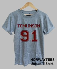 TOMLNISON 91 Louis Tomlinson Shirt Number Printed on by Norwaytees