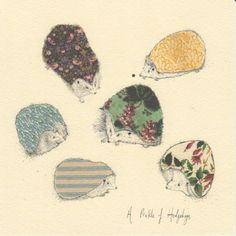 """""""A Prickle of Hedgehogs"""" by Anna Wright, 2010, published by Art Press, www.art-press.co.uk"""