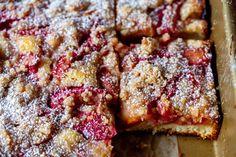 rhubarb snacking cake – smitten kitchen Köstliche Desserts, Delicious Desserts, Yummy Food, Fun Food, Yummy Treats, Sweet Treats, Cake Recipes, Dessert Recipes, Fruit Recipes