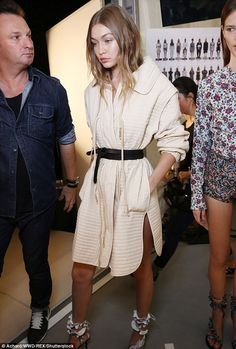 Busy:This was just the latest catwalk appearance from Gigi, who has previously appeared a...