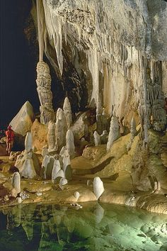Lechuguilla Cave in Carlsbad Caverns National Park,  New Mexico, USA